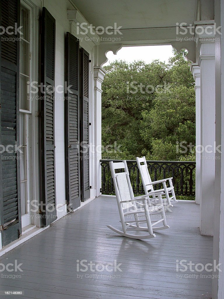 Louisiana - Plantation pourch stock photo