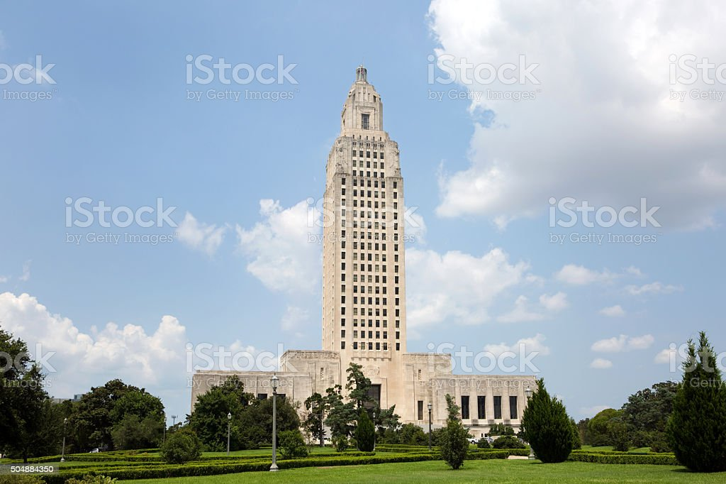 Louisiana State Capitol Baton Rouge stock photo