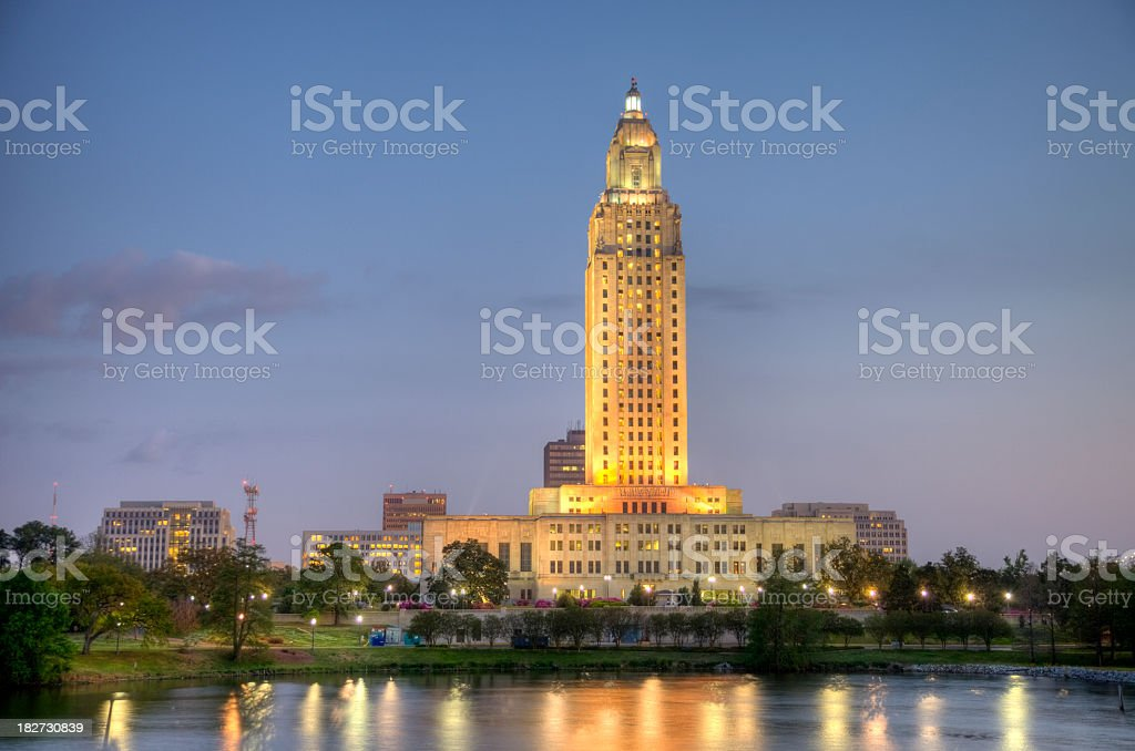 Louisiana State Capitol Building stock photo