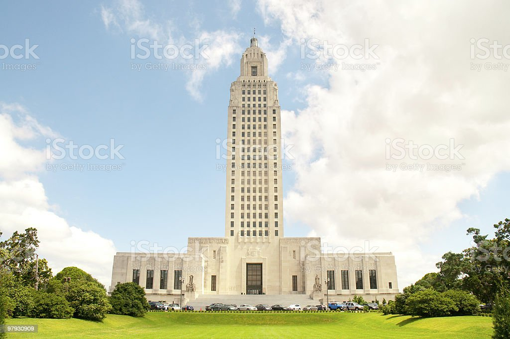 Louisiana State Capitol building royalty-free stock photo