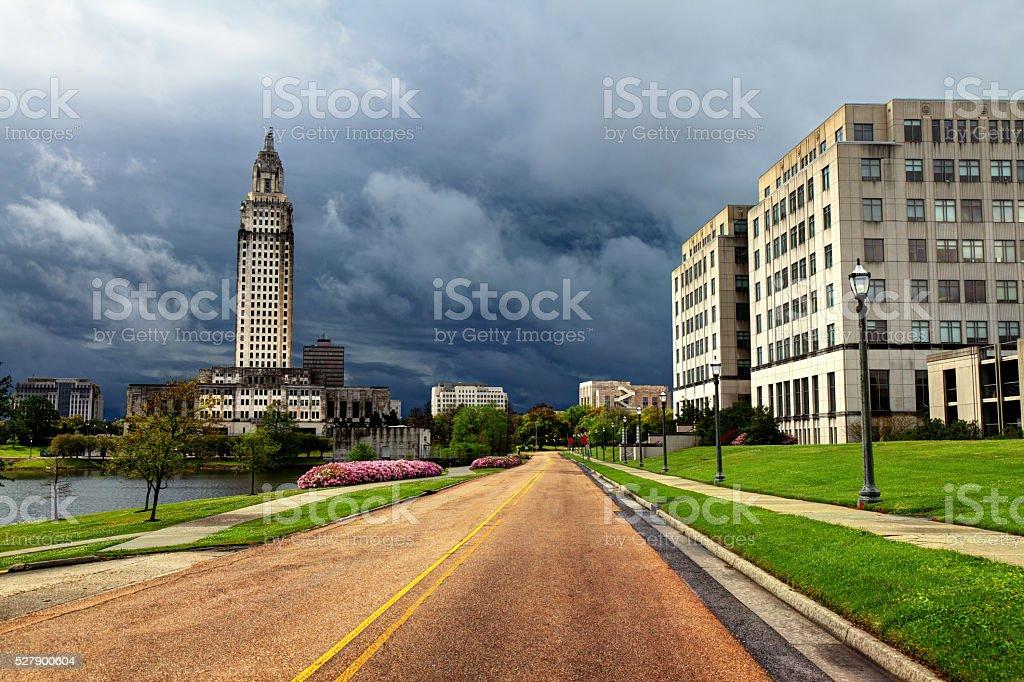 Louisiana State Capitol in Baton Rouge stock photo