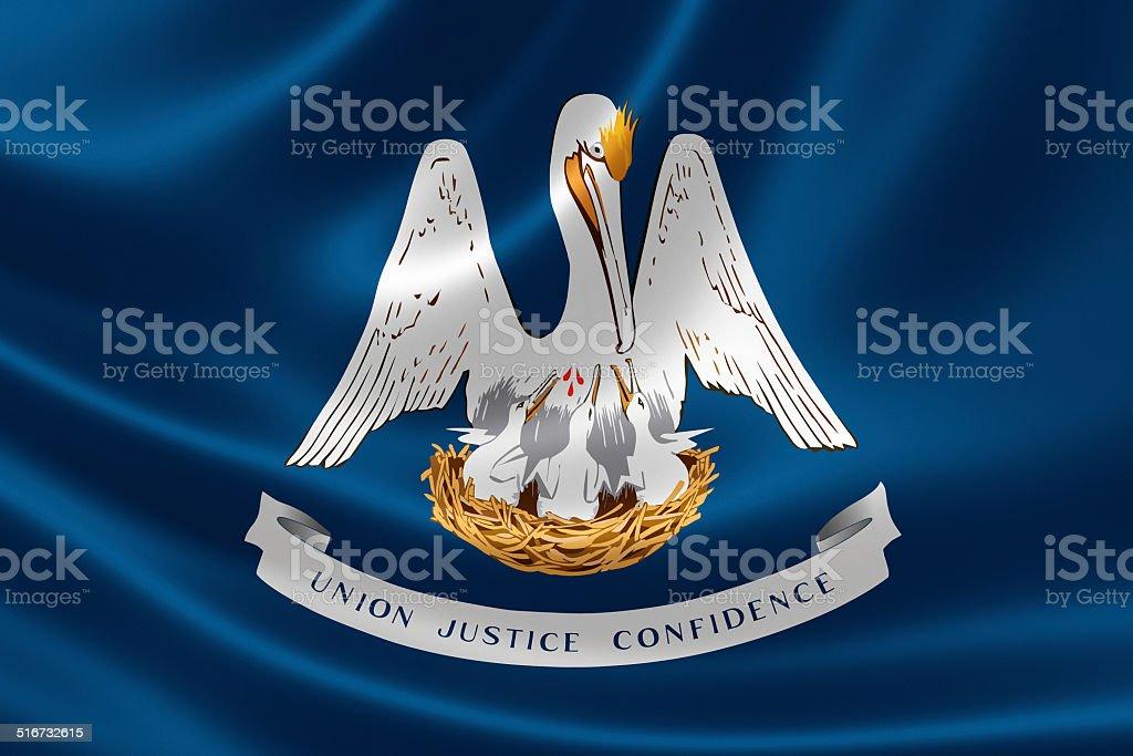 Louisiana State Flag stock photo