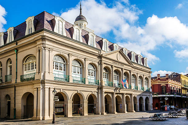 Louisiana state museum at Jackson Square, New Orleans stock photo