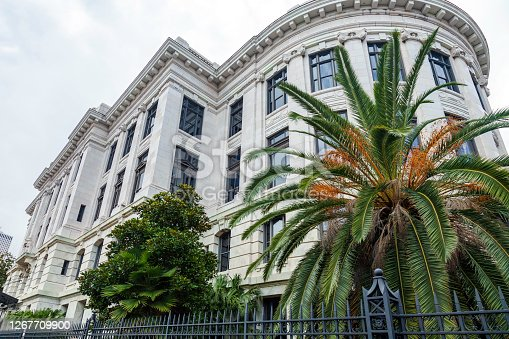 Louisiana's State Supreme Court building - constructed in the Beaux Arts style - is in New Orleans Orleans