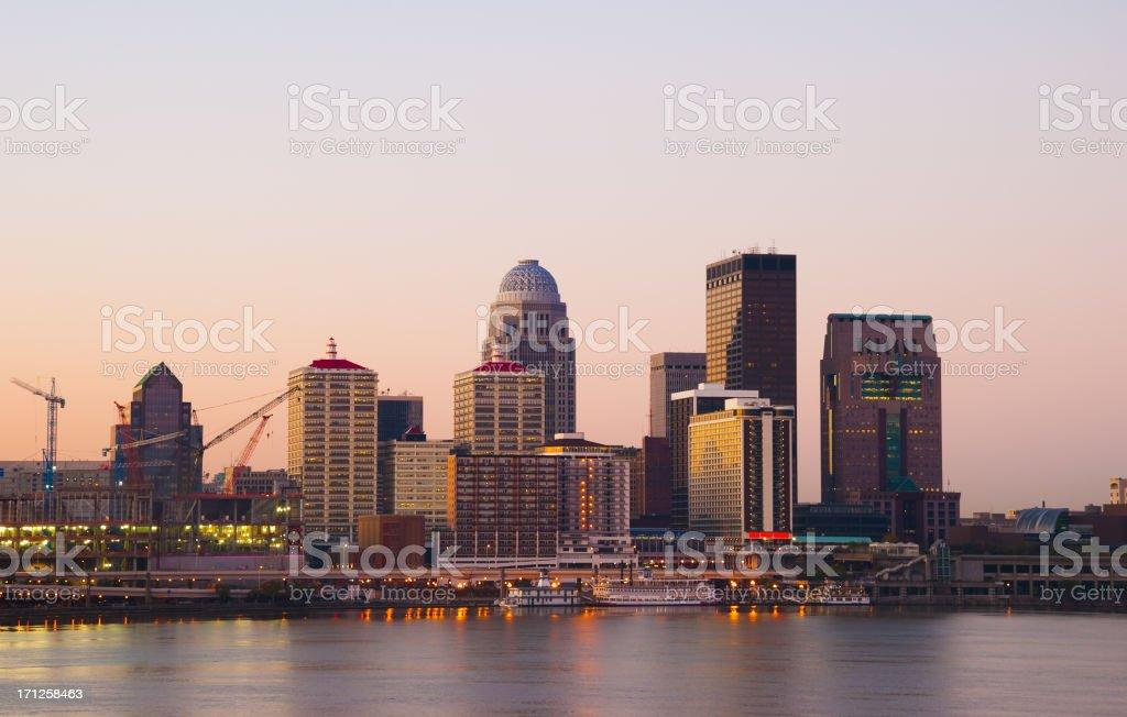 Louisville at dawn stock photo