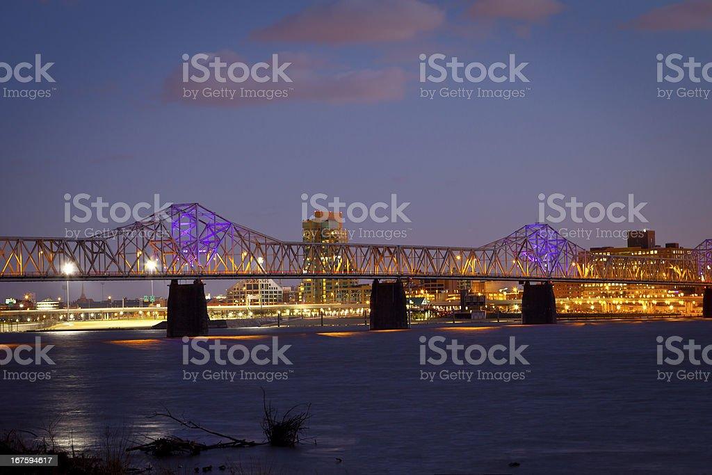 Louisville Bridge stock photo