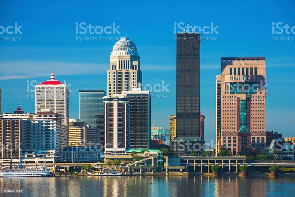 Louisville downtown skyline closeup view stock photo