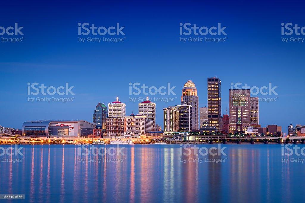 Louisville, Kentucky Skyline stock photo