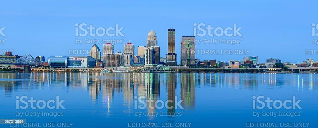 Louisville Kentucky Skyline stock photo