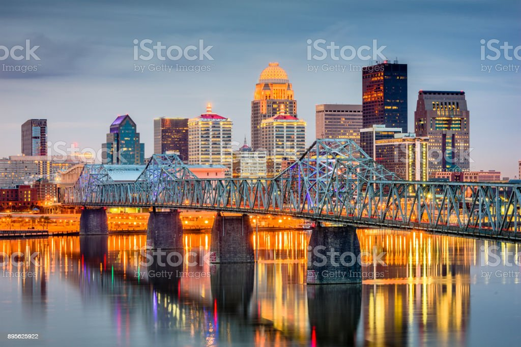 Louisville, Kentucky, USA Louisville, Kentucky, USA skyline on the river. Apartment Stock Photo
