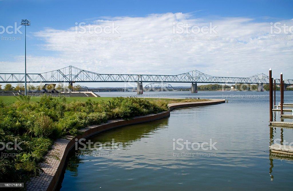 Louisville, KY waterfront stock photo