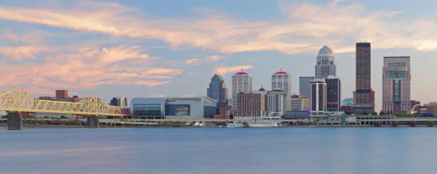 Louisville Skyline Panorama - Kentucky stock photo