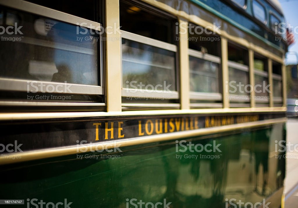 Louisville Streetcar stock photo