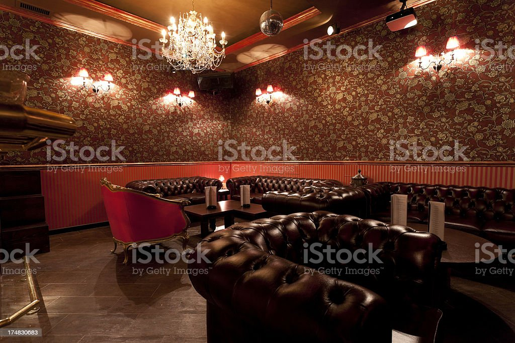 Lounge bar stock photo