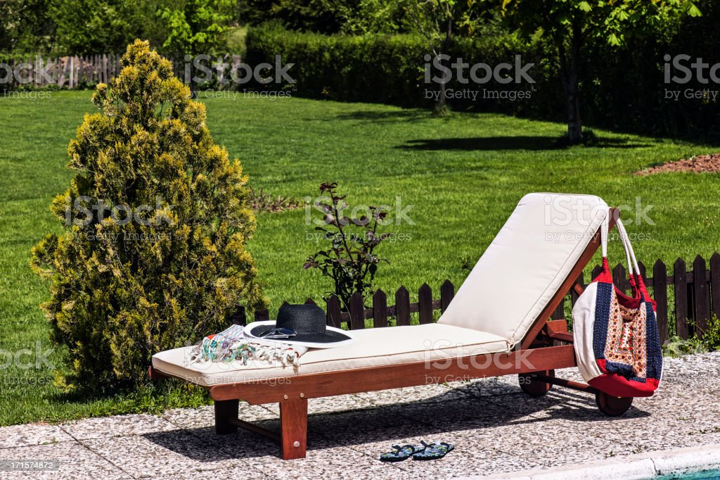 Lounge Chair stock photo