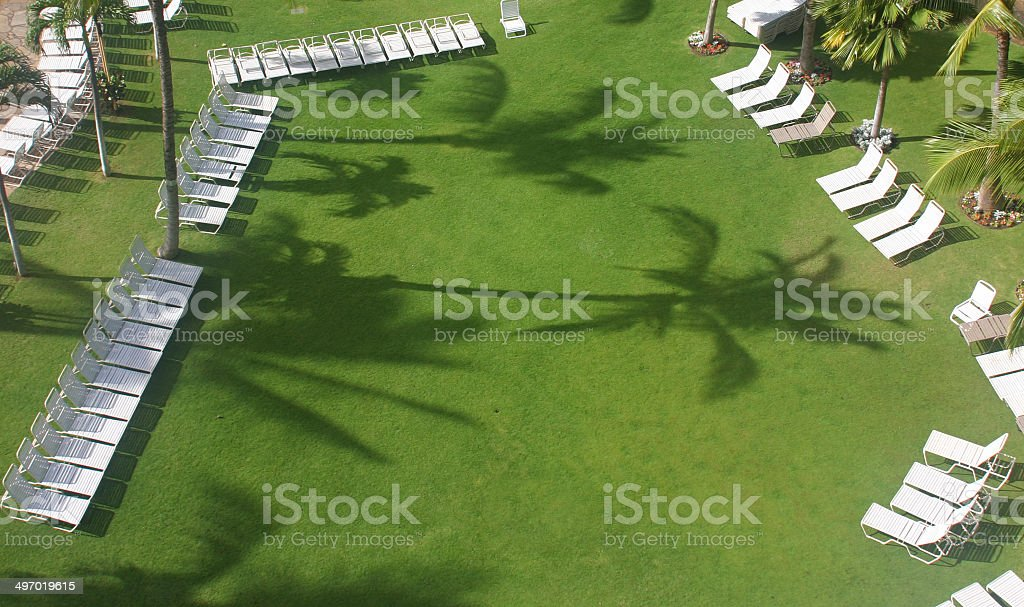 Lounge Chairs and Lawn stock photo