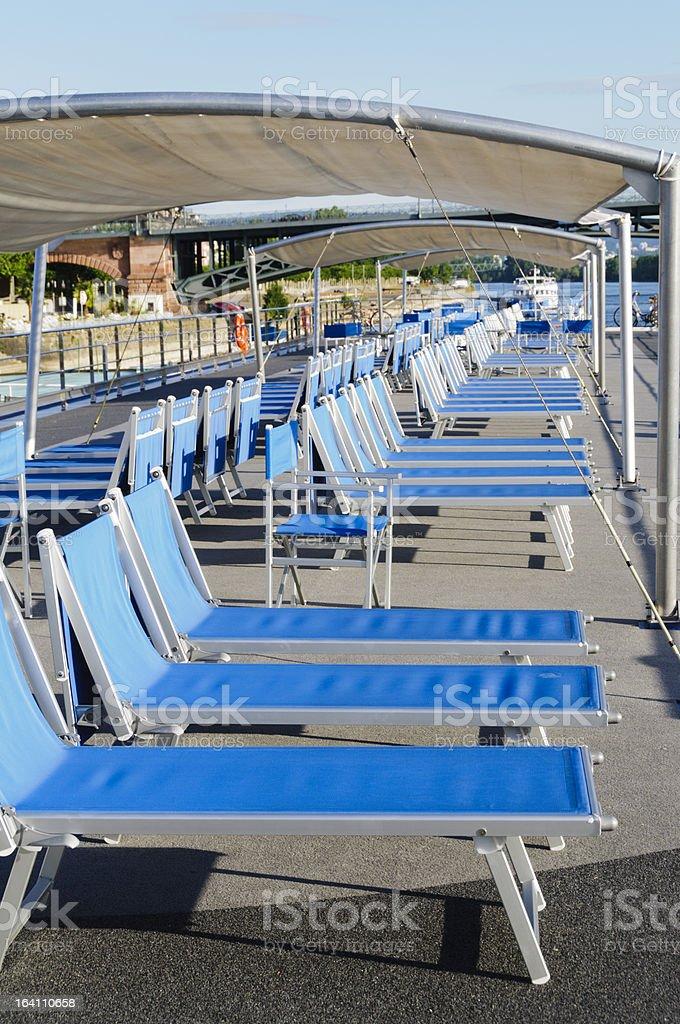Peachy Lounge Chairs On Cruise Boat Deck Stock Photo Download Creativecarmelina Interior Chair Design Creativecarmelinacom