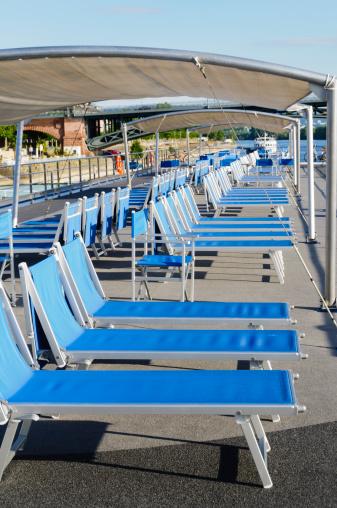 Brilliant Lounge Chairs On Cruise Boat Deck Stock Photo Download Creativecarmelina Interior Chair Design Creativecarmelinacom