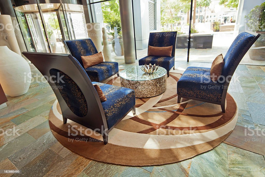 Lounge in a hotel royalty-free stock photo