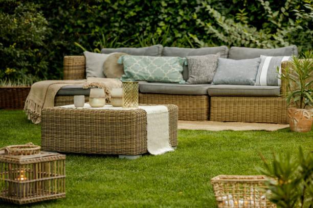 Lounge in garden stock photo