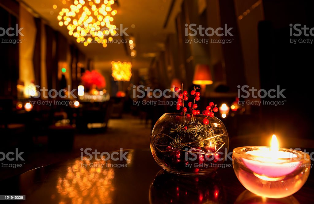 Lounge in luxury hotel - Beijing China stock photo