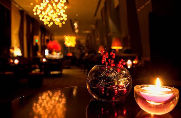 Lounge in luxury hotel - Beijing China stock photo