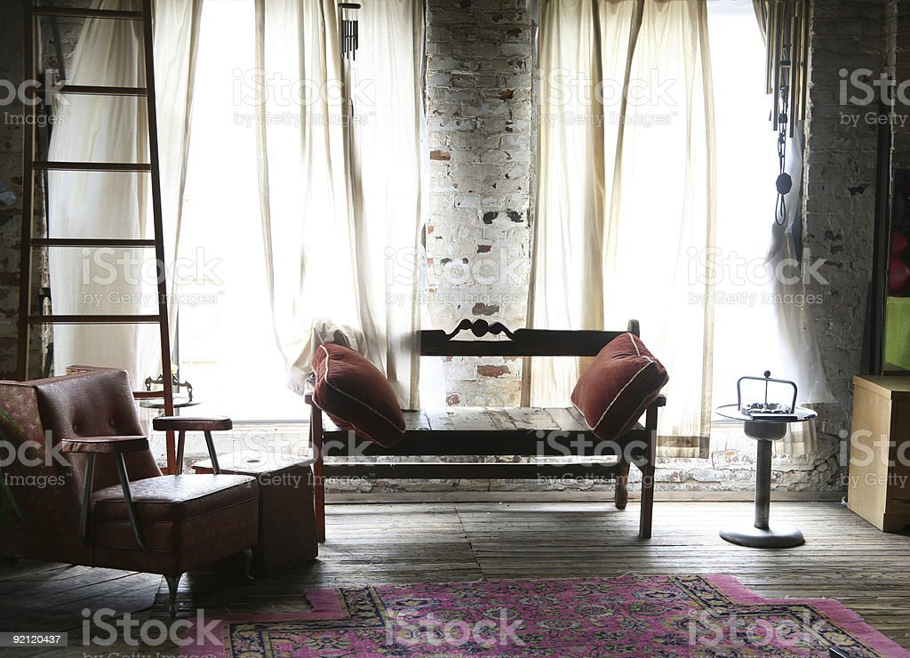 lounge in soft light royalty-free stock photo