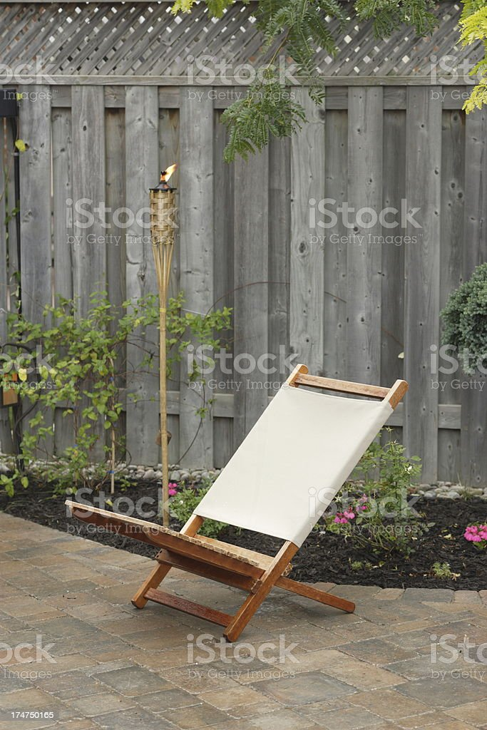 Lounge Patio Chair royalty-free stock photo