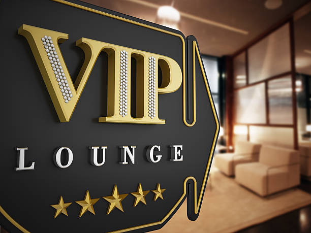 VIP lounge VIP lounge signboard pointing a luxury waiting room. first class stock pictures, royalty-free photos & images