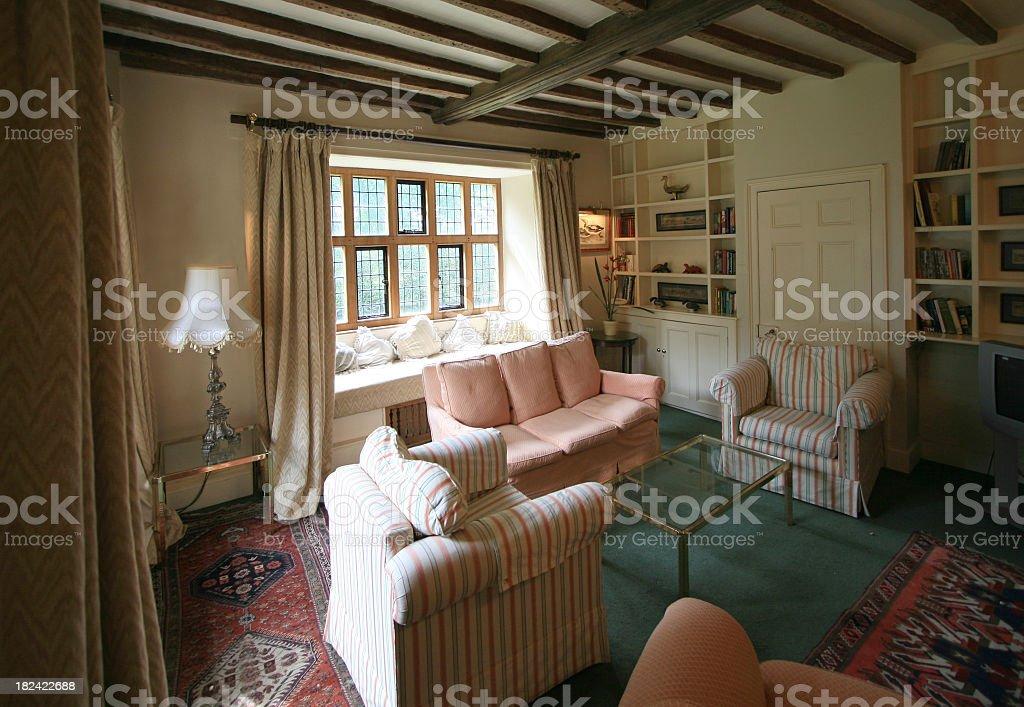 Sala De Estar En Una Casa De Campo Reino Unido Elizabethan ...