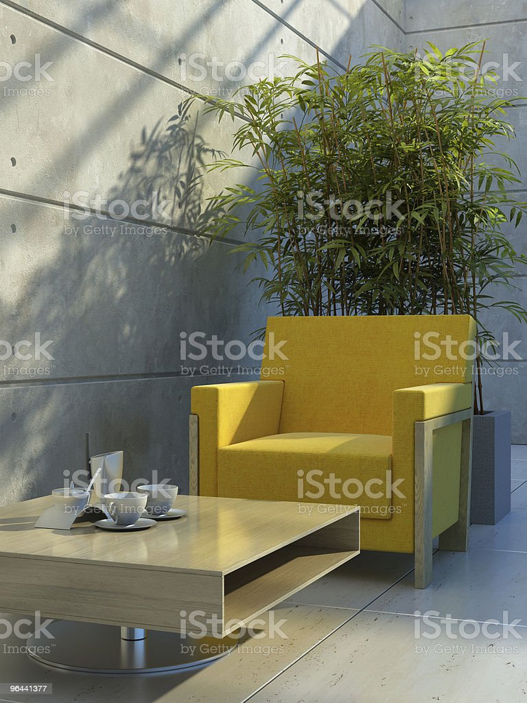 interior de uma sala de estar - Foto de stock de Aconchegante royalty-free