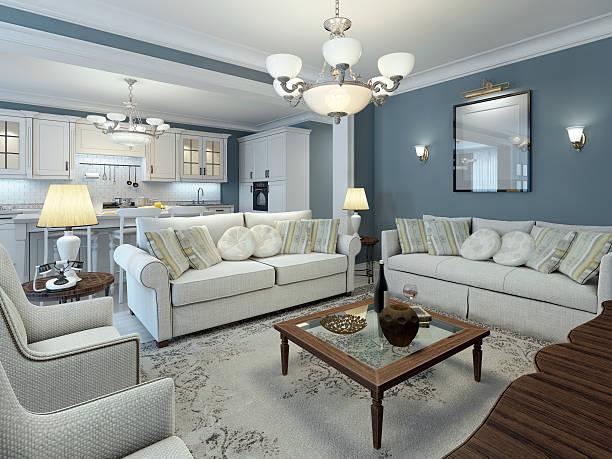 salon pokój w stylu śródziemnomorskim - żyrandol sprzęt oświetleniowy zdjęcia i obrazy z banku zdjęć