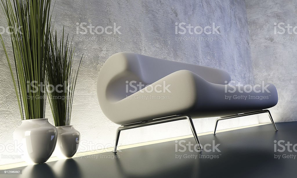 lounge room with floorlight royalty-free stock photo