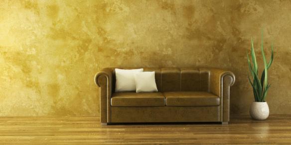 Lounge Zimmer Mit Ledersofa Stockfoto und mehr Bilder von Anzünden