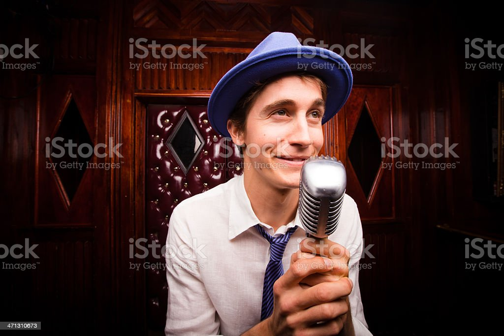 Lounge Singer in Love stock photo