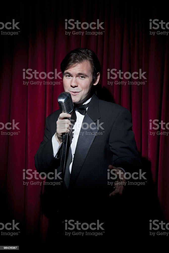 Lounge Singer stock photo