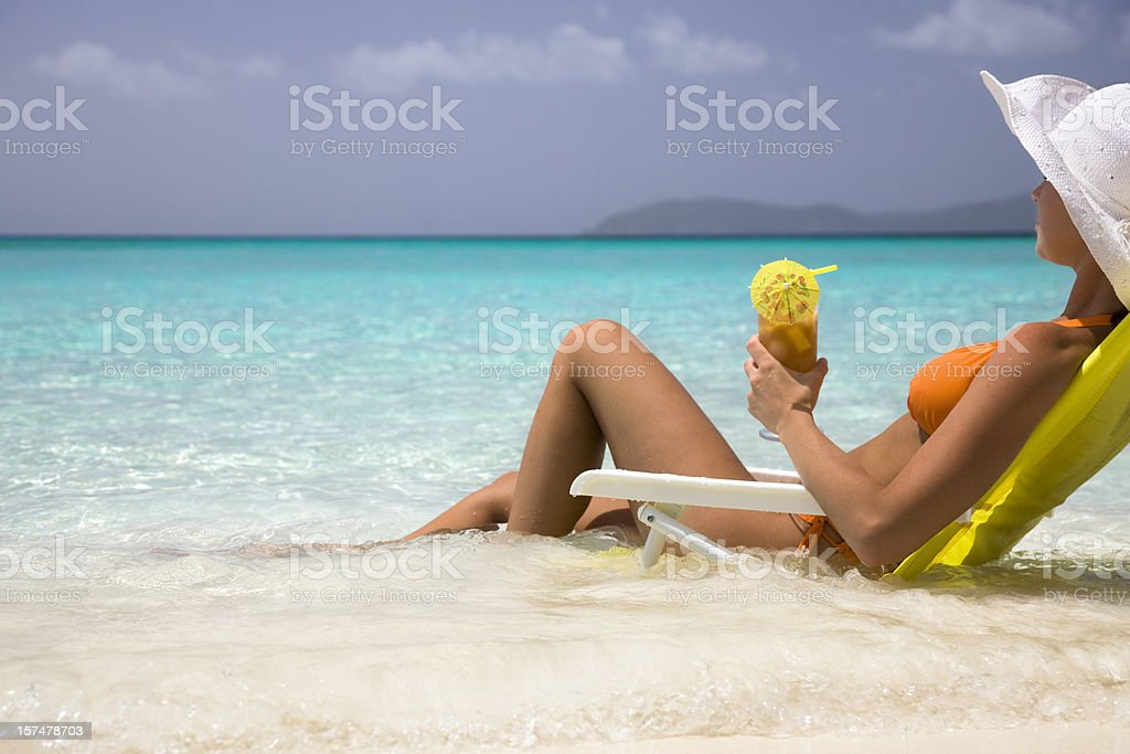 lounging in paradise royalty-free stock photo