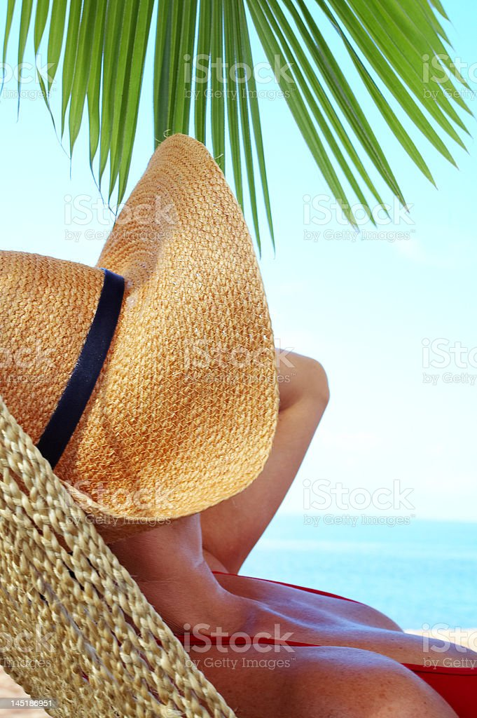 lounging woman royalty-free stock photo