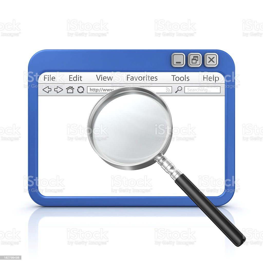 loupe in browser royalty-free stock photo