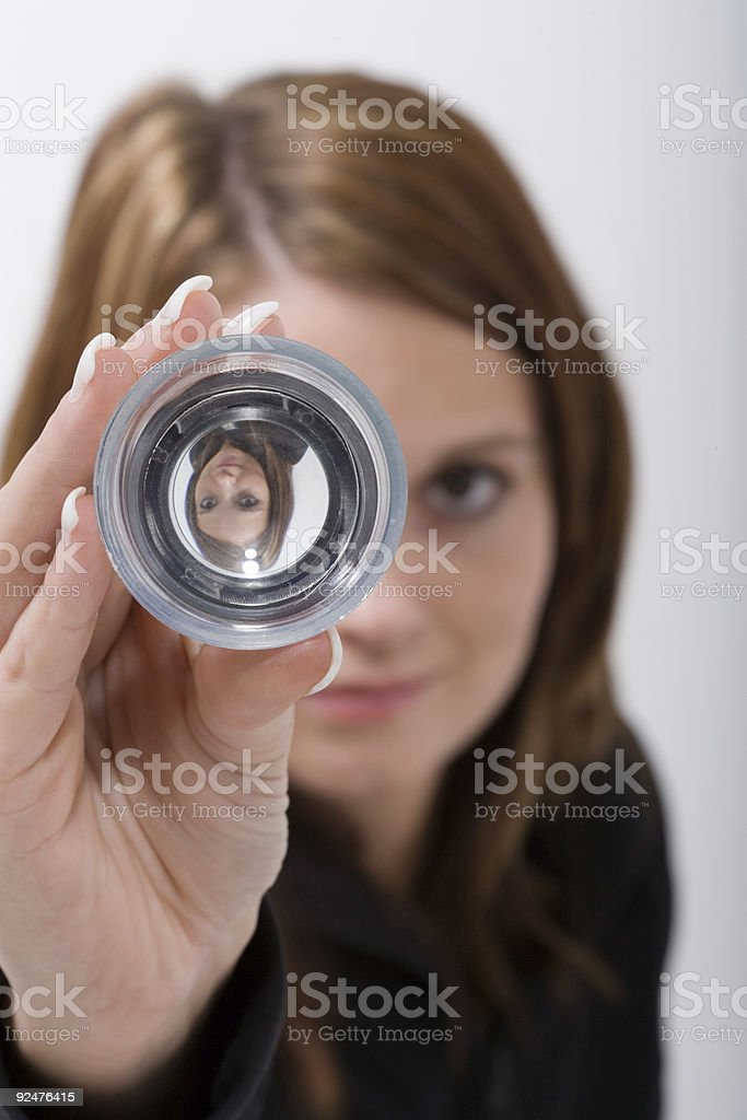 Loupe View royalty-free stock photo
