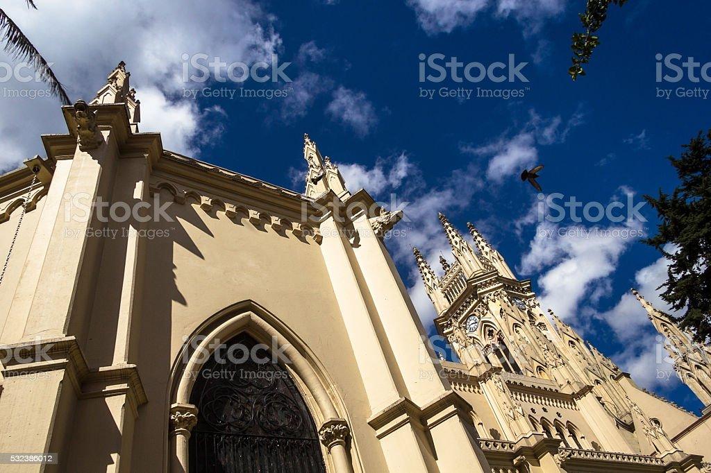 Lourdes Cathedral at Bogota stock photo