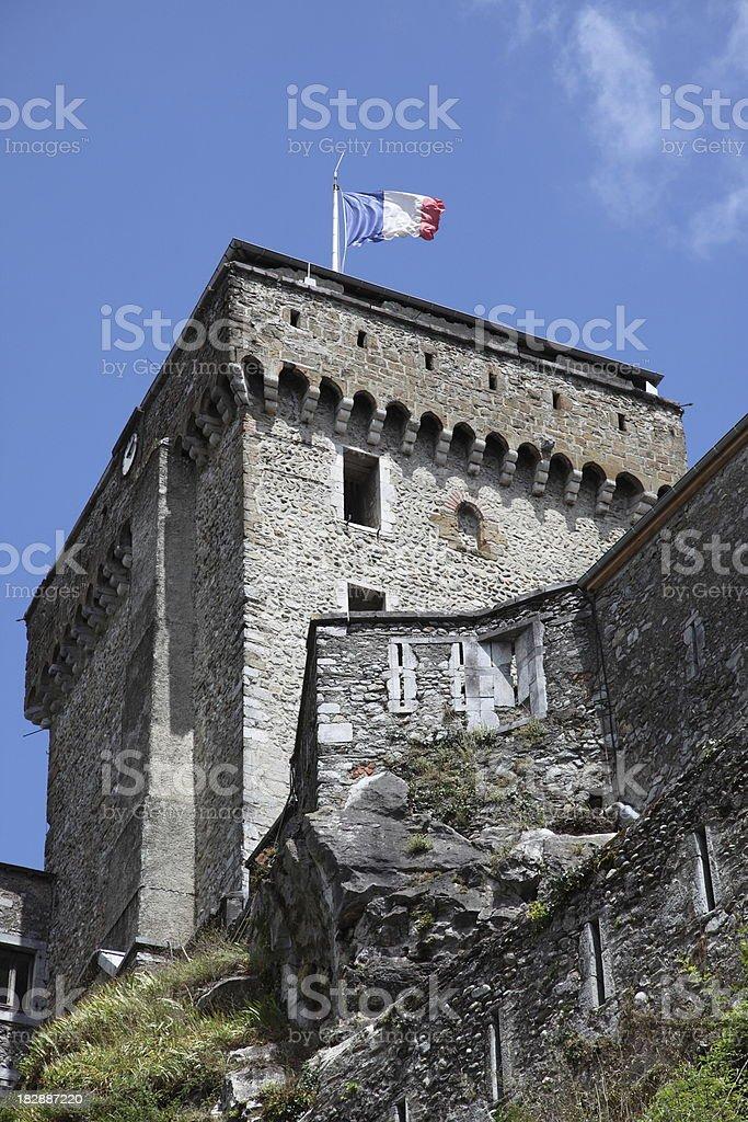 Lourdes - Château Fort stock photo