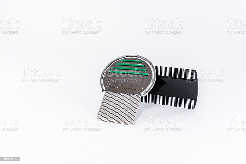 Louse comb. Head lice treatment, combs. stock photo
