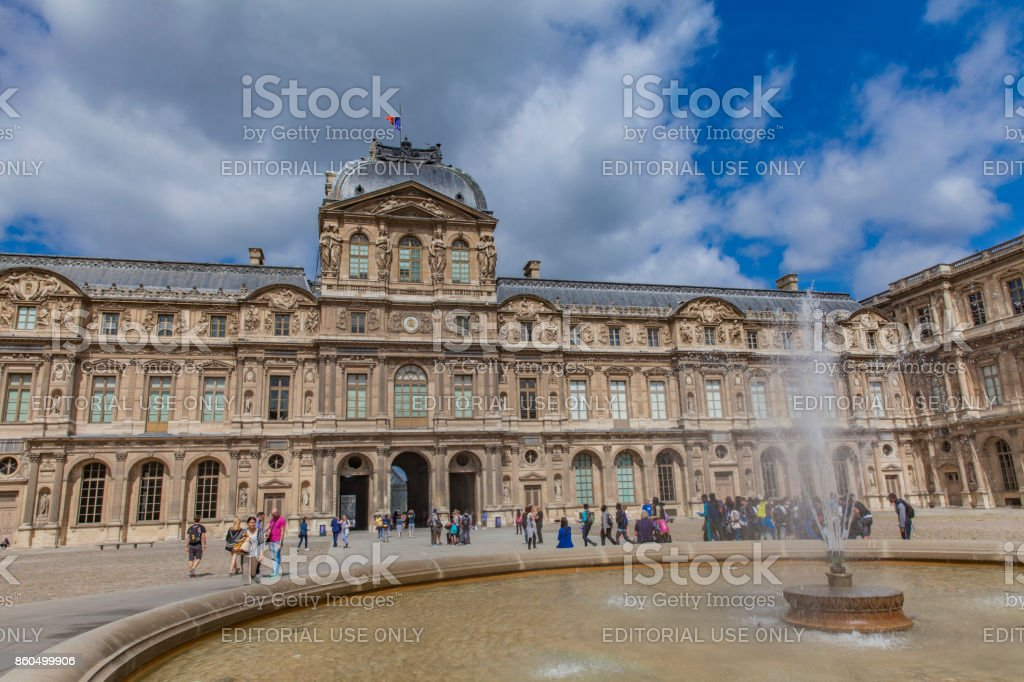 Louvre Palace in Paris stock photo