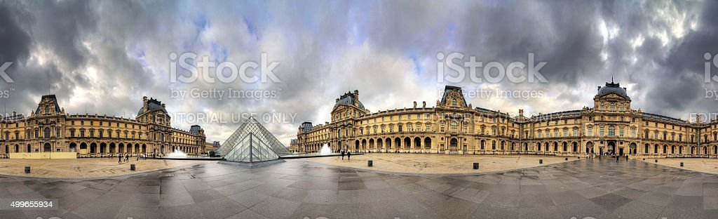 360 Louvre stock photo