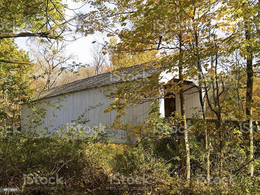 Loux Covered Bridge 5 stock photo
