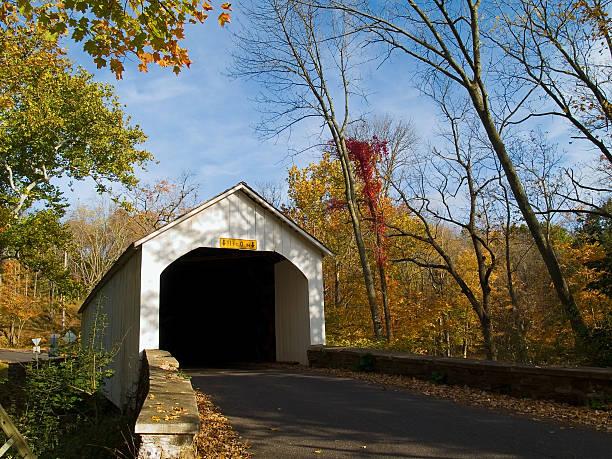 Loux Covered Bridge stock photo