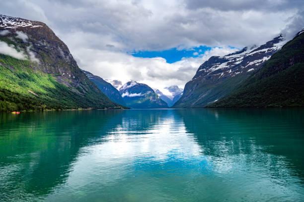 lovatnet See Schöne Natur Norwegen. – Foto