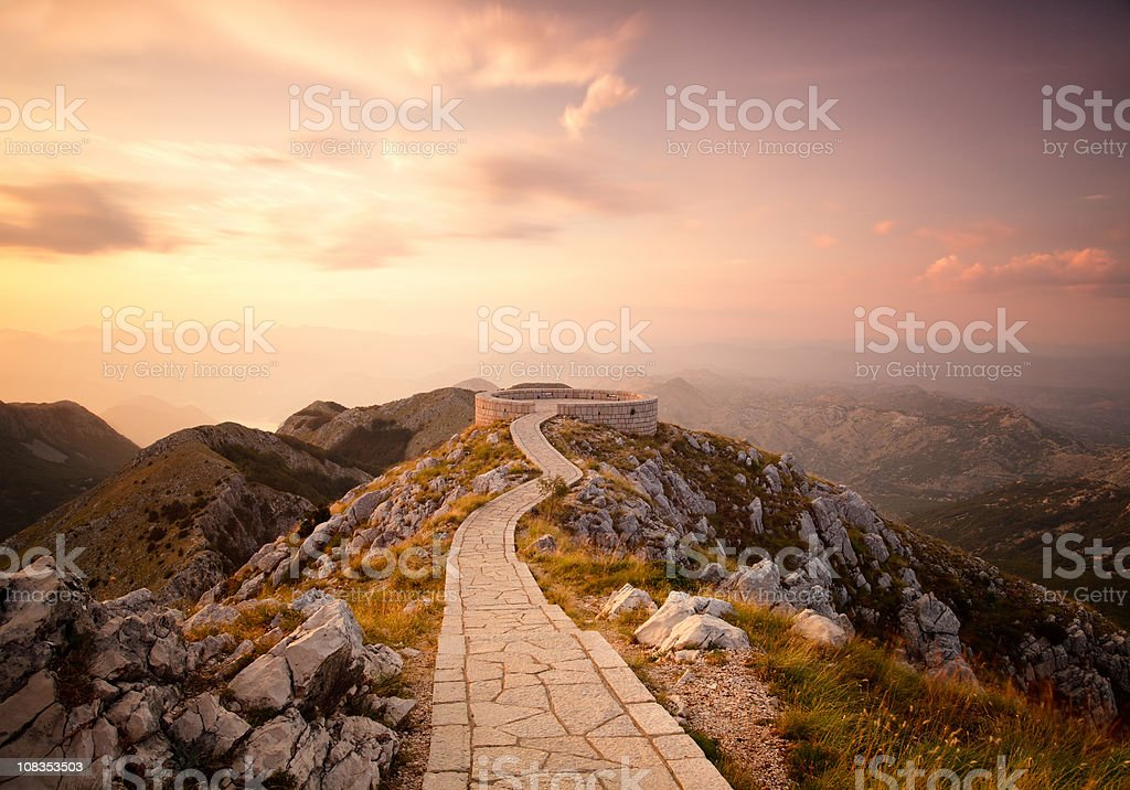 Lovcen Mausoleum in Cetinje city royalty-free stock photo