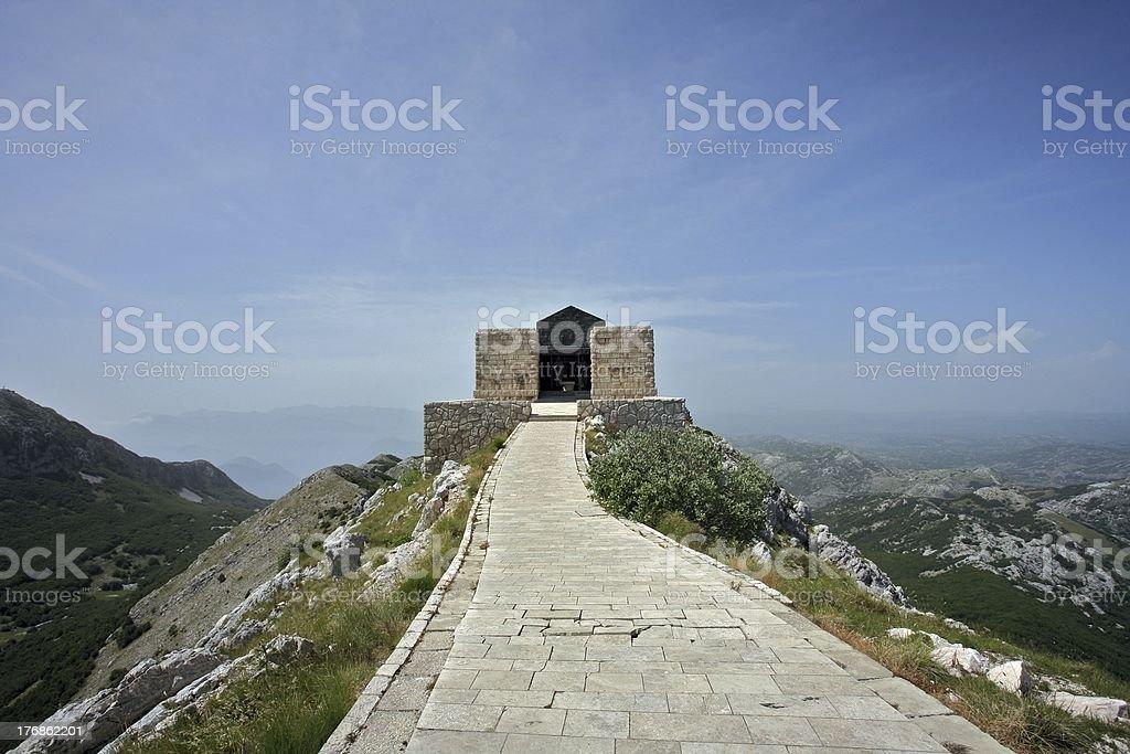 Lovcen Mausoleum stock photo